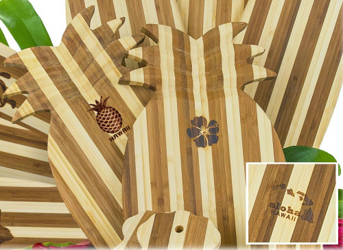 Tropical Bamboo Pineapple Shaped Cutting Board