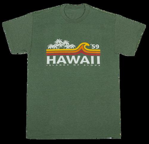 Hawaiian Performance Surfwear® - Beach Break - Green Heather