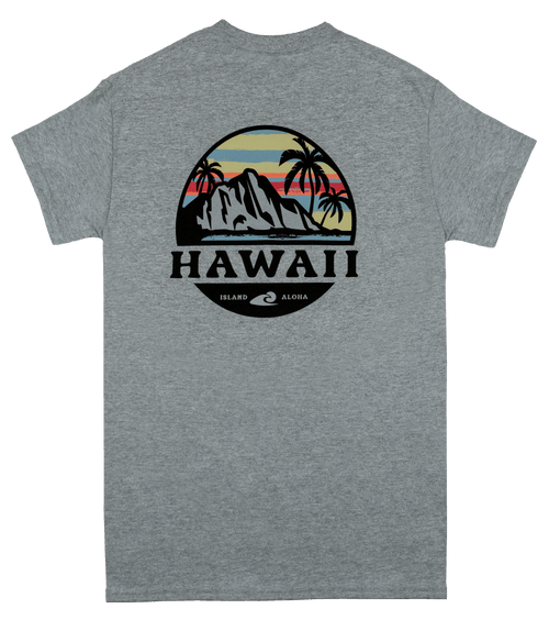 Adult Tee - HPS - Tropical Sunset - Sports Gray