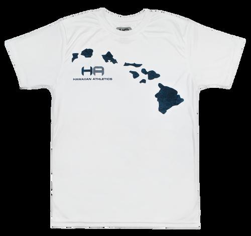 Hawaiian Athletics® Sports Tees - Islands in White color