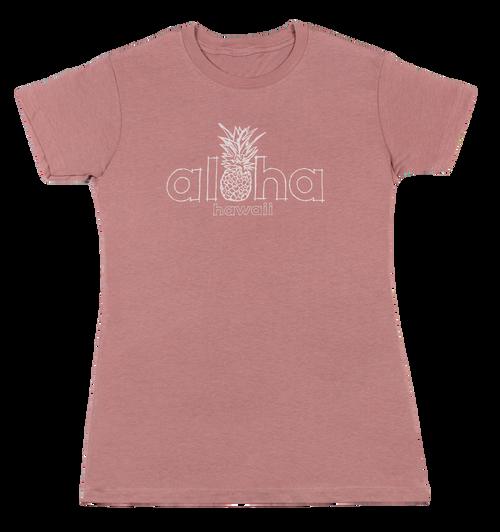 Island Girl® Surf Tee - Aloha Pine in Rose color