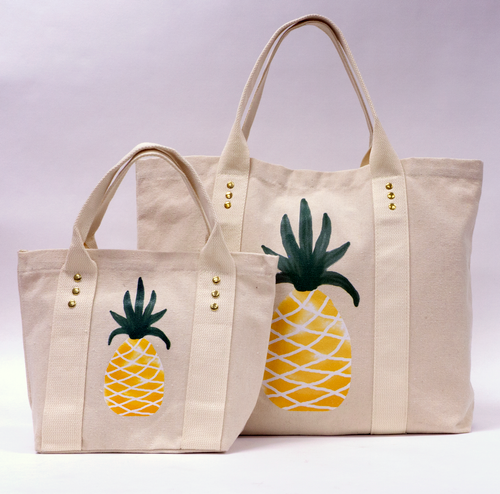 Tote Bag Pineapple Small & Large
