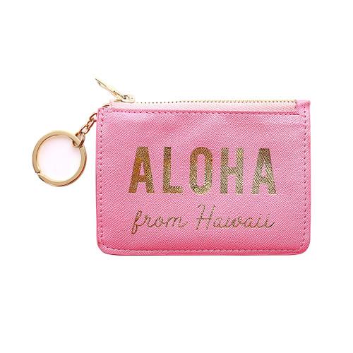 Island Coin Purse in Aloha Pink design