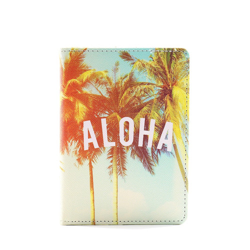 Island Passport Holder in Aloha Palm design