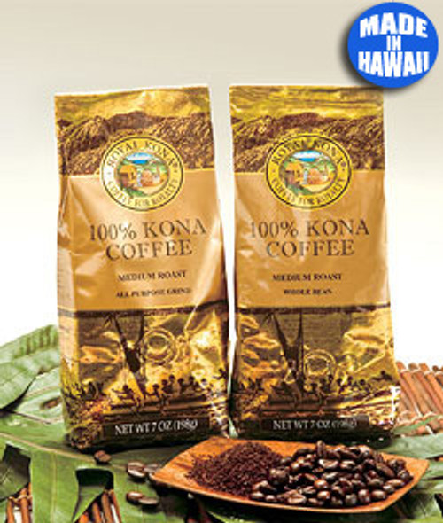 Royal Kona 100% Kona Coffee, available in ground or whole bean
