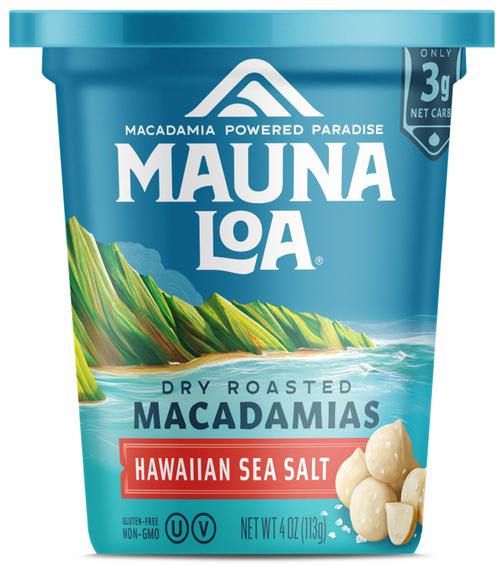 Mauna Loa Macadamia Nuts - Single Cup Salted Dry Roasted 4 oz