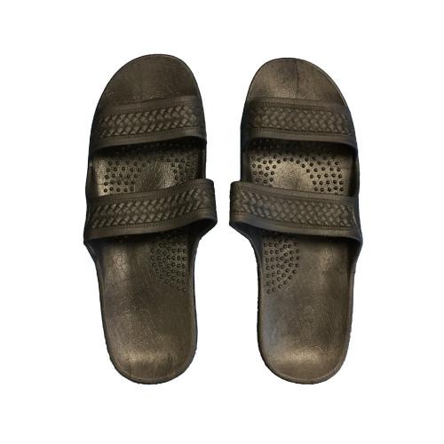 Slip-On Sandals in Black Color