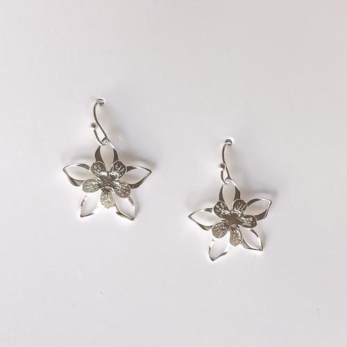 Liv-N-Aloha® Silver Columbine Earrings