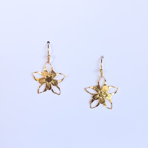 Liv-N-Aloha® Gold Columbine Earrings