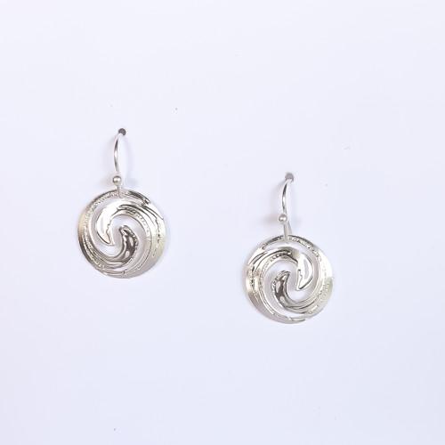 Liv-N-Aloha® Silver Moana Earrings