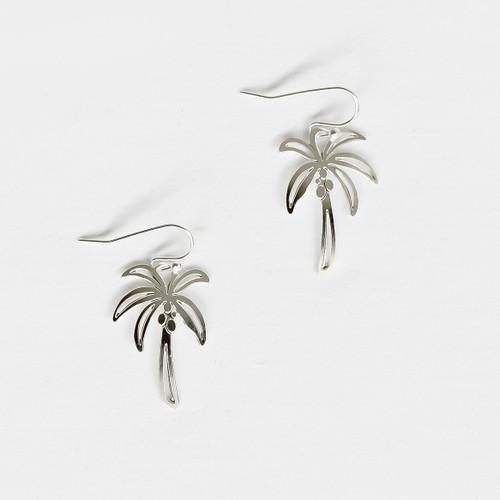 Liv-N-Aloha® Silver Palm Tree Earrings