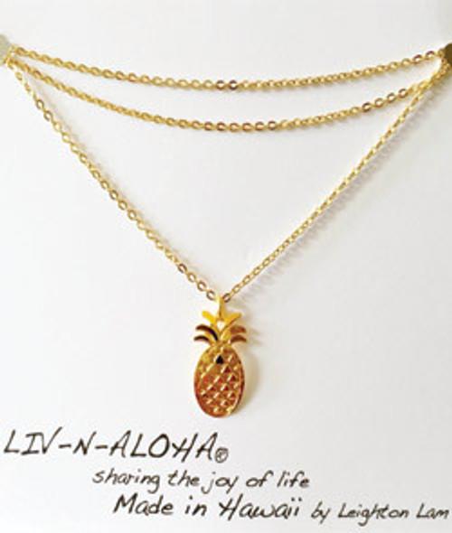 Liv-N-Aloha® Gold Pineapple Necklace
