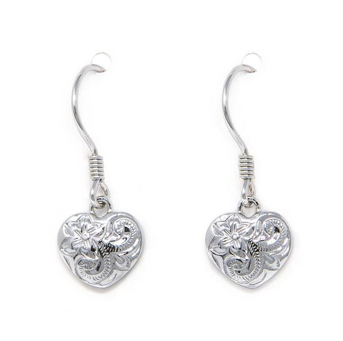 Sterling Silver Heart Dangle Earring