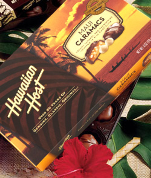 Hawaiian Host Maui CaraMac Chocolate and Caramel Covered Macadamia Nuts