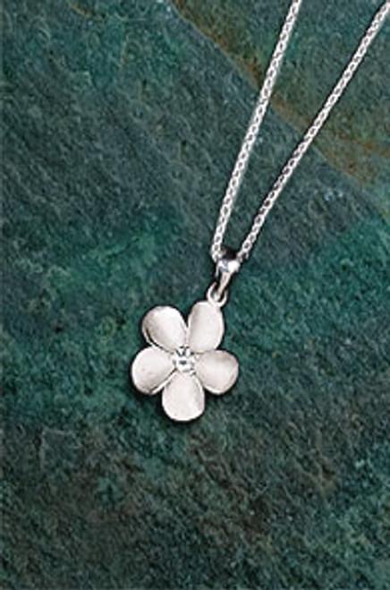 Ku'uipo Sterling Silver Plumeria Pendant Necklace