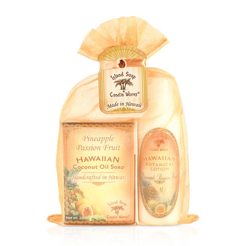 Island Soap Company Organza Gift Set - Pineapple Passion Fruit