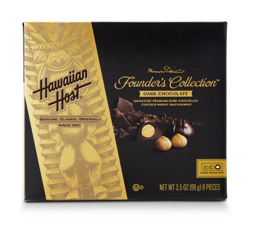 Hawaiian Host Founder's Collection Dark Chocolate Covered Macadamia Nuts - 3.5 oz box