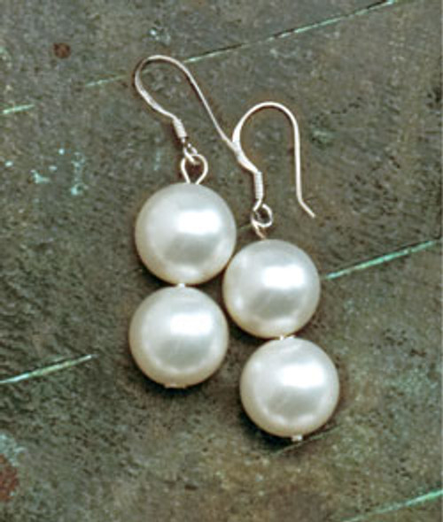 Jewel of the Sea Pearl Earrings in white coloring