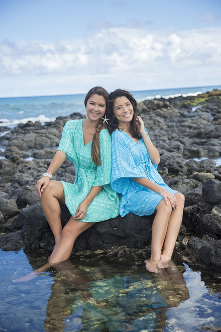 Two female models wearing Napua Collection - Cover Ups