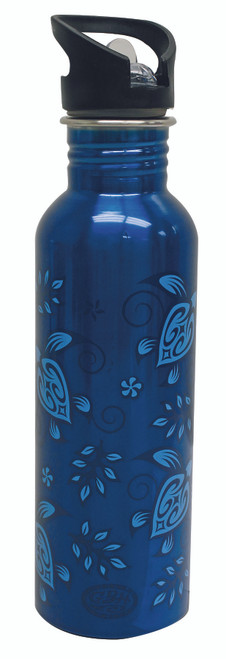 Gotta Be Hawaiian Stainless Steel Hydration Bottles in Blue Honu design