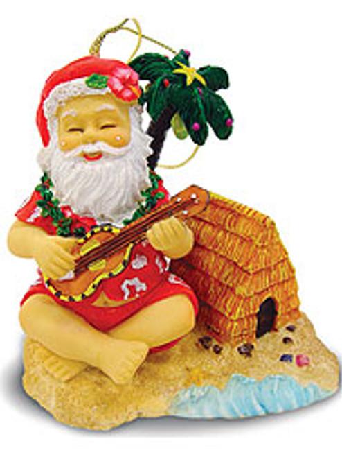 Christmas Ornament - Santa on the Beach