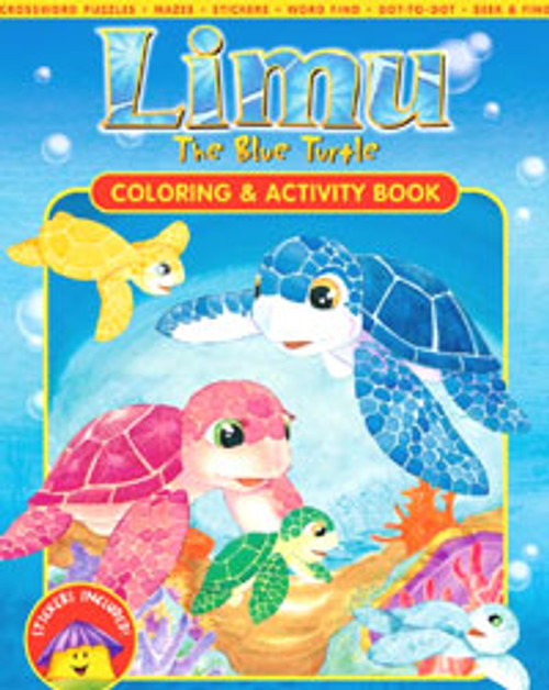 Limu The Blue Turtle - Coloring & Activity Book