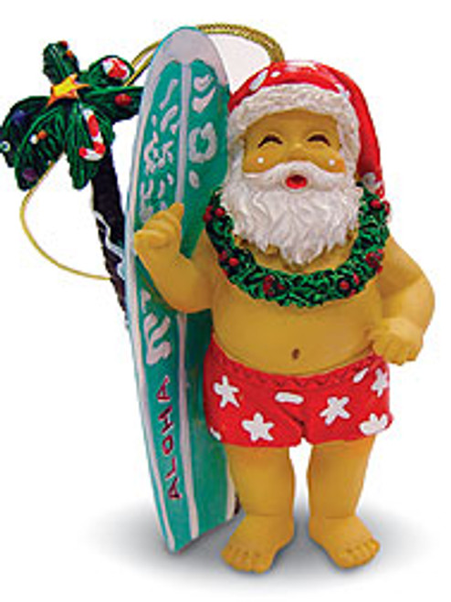 Christmas Ornament - Surfboard Santa