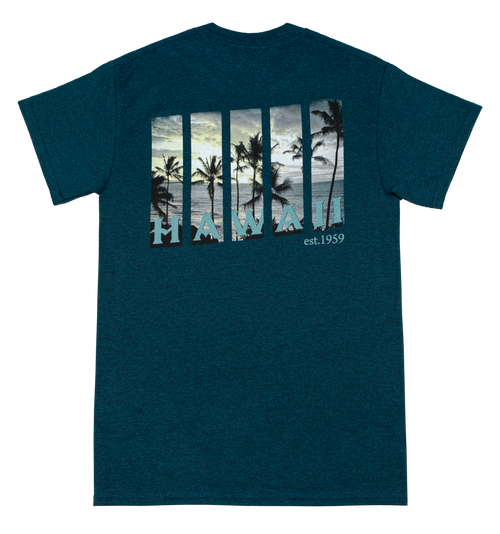 Crew Neck Tee - Windows - Teal Heather