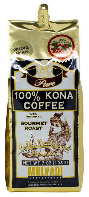 Mulvadi 100% Kona Coffee in Whole Bean
