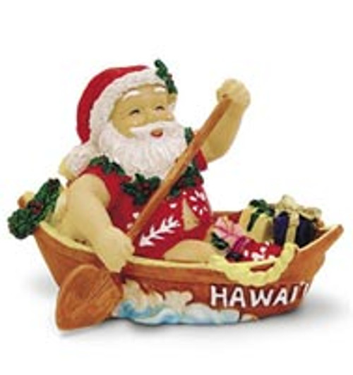 Christmas Ornament - Canoeing Santa