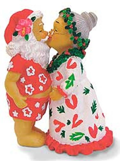 Christmas Ornament - Kissing Santa