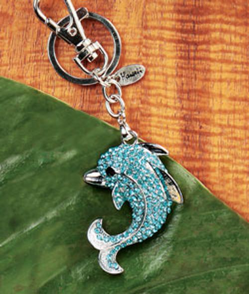 Island Bling Keyrings in Dolphin design