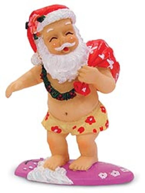 Christmas Ornament - Surfing Santa