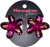 Dark Pink Painted Mini Hair Clips by Hawaiian Glamour
