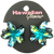 Dark Blue Painted Mini Hair Clips by Hawaiian Glamour