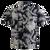 Men's Cotton Aloha Shirt - Navy with Cream Floral