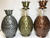 Tropical Pewter Collection Pineapple Toothpick Holder in the following colors from left to right: Silver, Gold, and Bronze