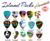 Island Picks - Available in the following designs: Aquarium, Sunset, Paradise, Tiki, Hula Girl, Maui, HI, Surfer, Blue Honu, Green Leaf (Kauai), Shark Bite, Pineapple (Maui), Hibiscus, Waikiki, Volcano