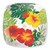 Holiday Glass Plate in Floral Monstera