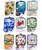 3 Piece Hawaii Themed Kitchen Sets in the following designs: Palm Tree, Swimming Honu, Multi Pineapple, Petro Honu Blue, Red Hibiscus, Green Plumeria, Hawaii Map and Mixed Hibiscus