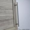 """Century, Modern Geo, Solid Brass 7 9/16"""" (192mm) Bar pull, Matte Satin Nickel, mounted"""
