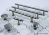 """Century, Modern Geo, Solid Brass 7 9/16"""" (192mm) Bar pull, Matte Satin Nickel collection"""