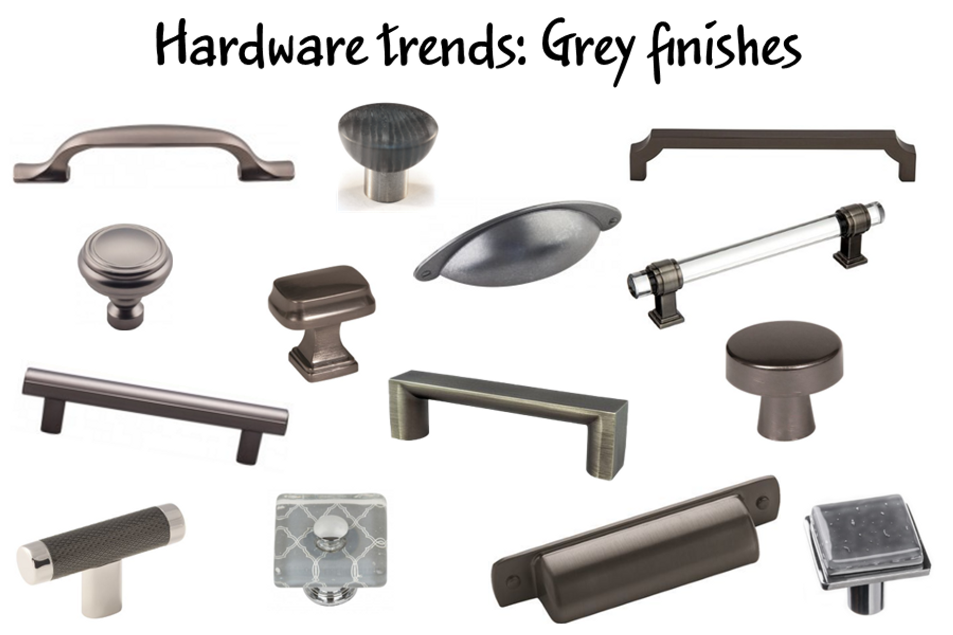 Hardware Trends:  Grey Finishes
