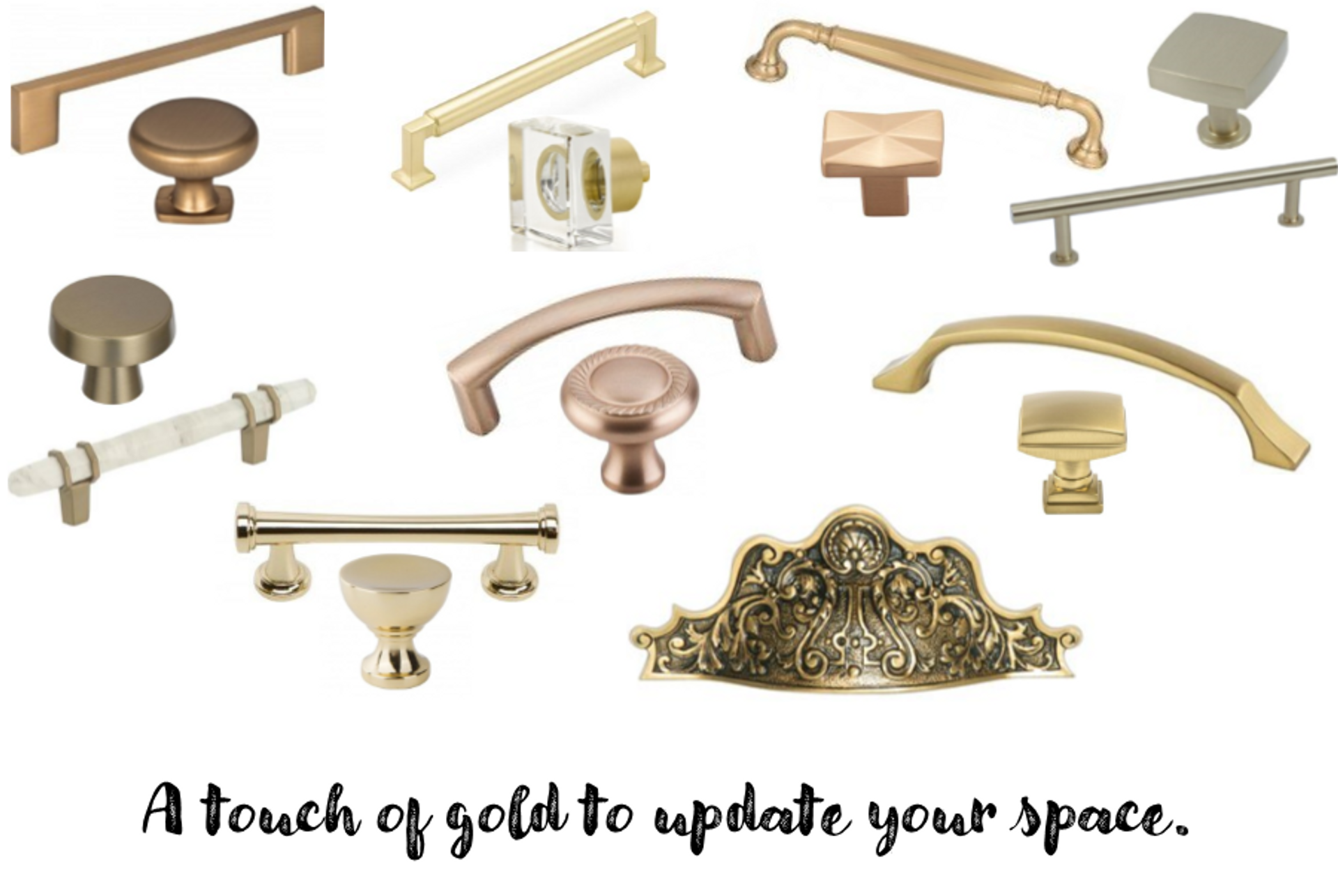 Hardware Trends:  Gold Finishes