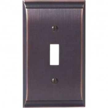 Amerock, Candler, 1 Toggle Wall Plate, Oil Rubbed Bronze