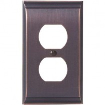 Amerock, Candler, 1 Receptacle Outlet Wall plate, Oil Rubbed Bronze