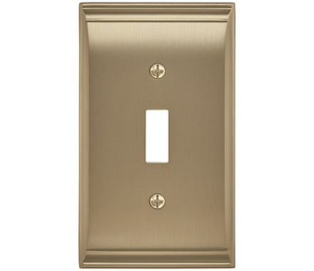 Amerock, Candler, 1 Toggle Wall Plate, Golden Champagne