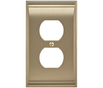 Amerock, Candler, 1 Receptacle Wall Plate, Golden Champagne