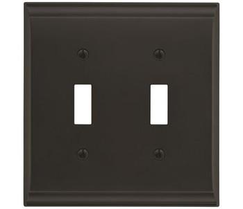 Amerock, Candler, 2 Toggle Wall Plate, Black Bronze