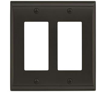 Amerock, Candler, 2 Rocker Wall Plate, Black Bronze